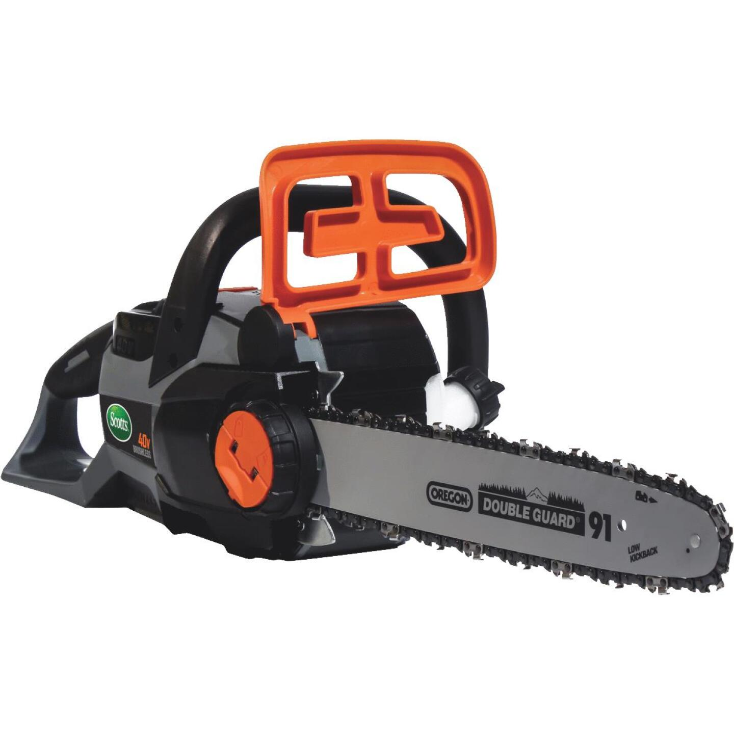 Scotts 14 In. 40 Volt Lithium Ion Cordless Chainsaw Image 1