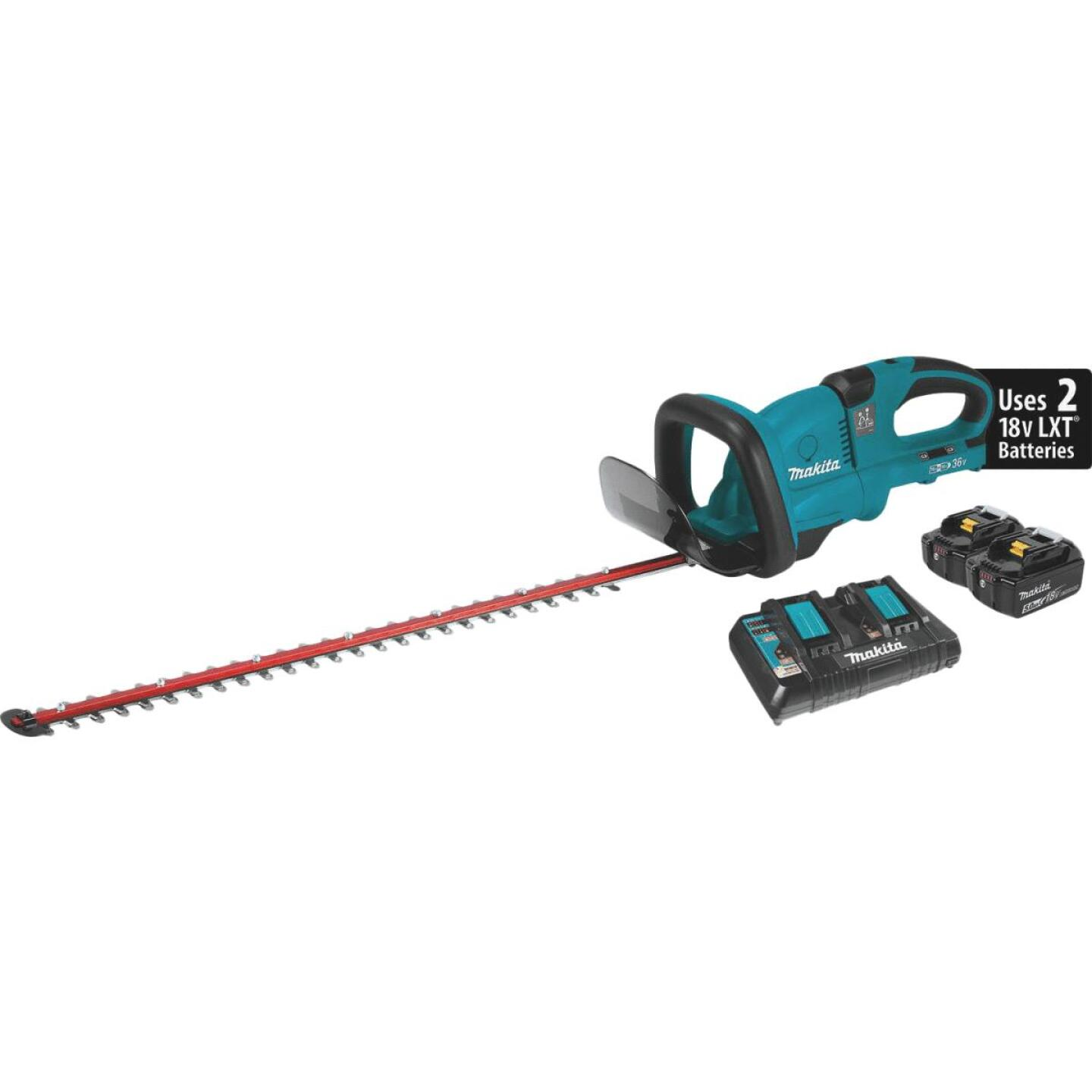 Makita 18V X2 (36V) LXT Lithium-Ion Cordless 25-1/2 In. (5.0Ah) Hedge Trimmer Kit Image 1