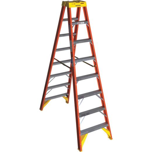 Werner 8 Ft. Fiberglass Twin Step Step Ladder with 300 Lb. Load Capacity Type IA Ladder Rating