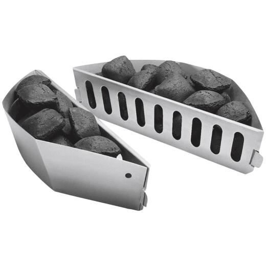 Char-Basket Aluminized Steel Charcoal Fuel Holders (2-Pack)