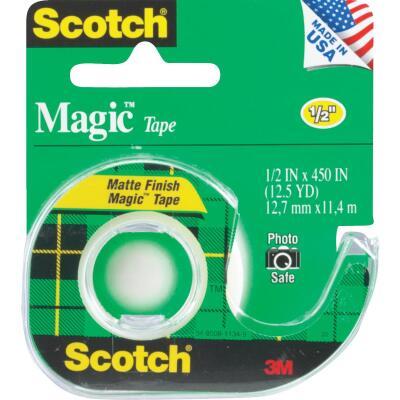 3M Scotch 1/2 In. x 450 In. Magic Transparent Tape