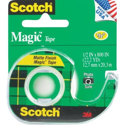 3M Scotch 1/2 In. x 800 In. Magic Transparent Tape