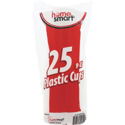 Home Smart 9 Oz. Clear Plastic Cups (25-Pack)