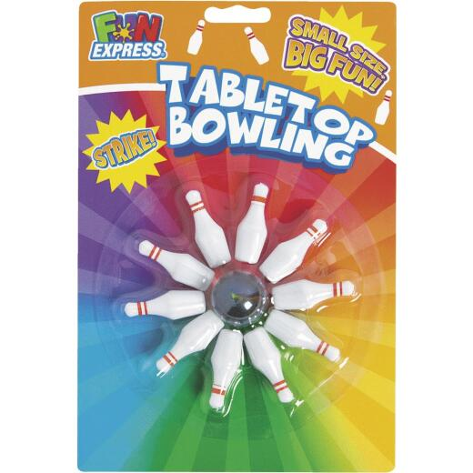 Fun Express Plastic Pins with Rubber Ball Table Top Bowling