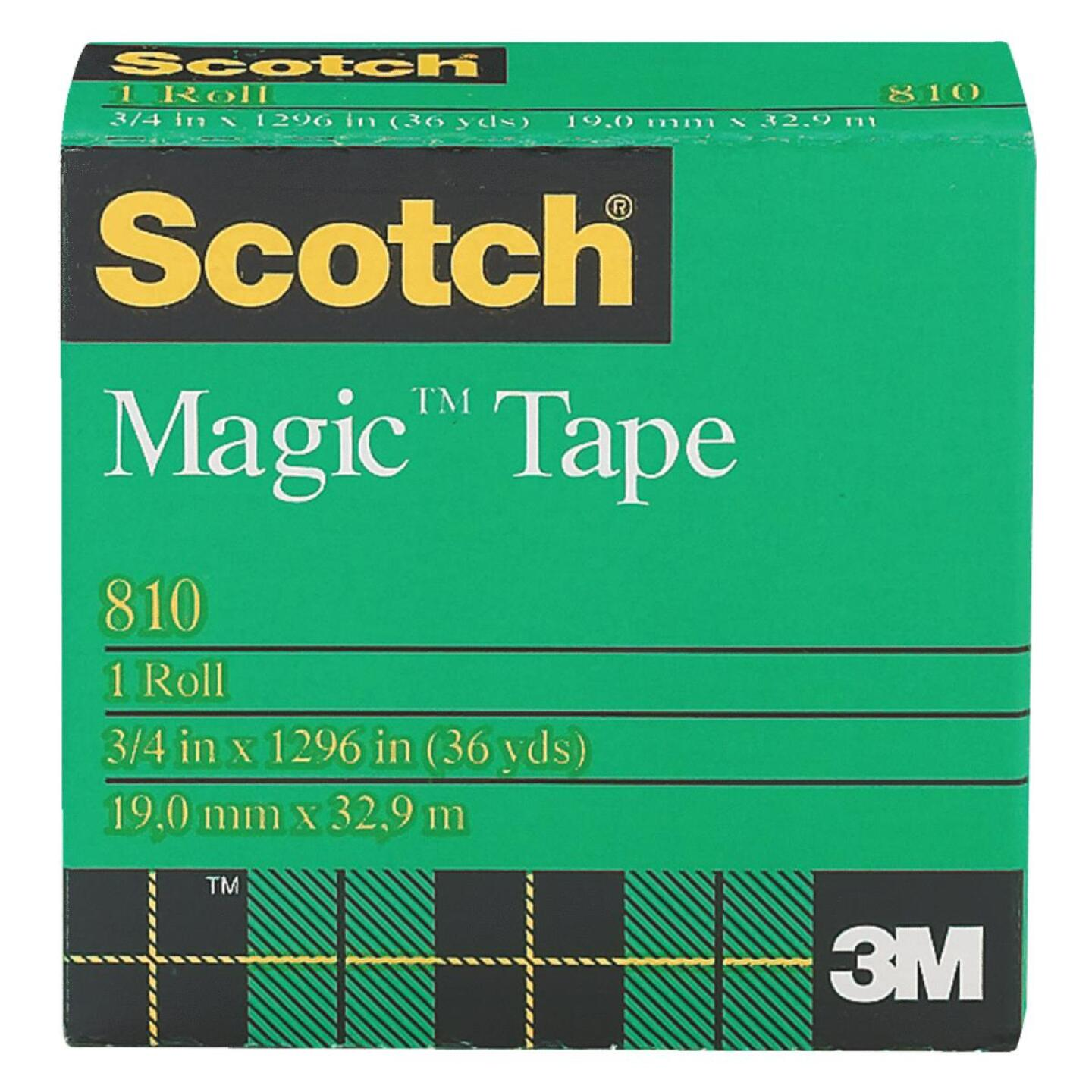 3M Scotch 3/4 In. x 1296 In. Magic Transparent Tape Refill Image 1