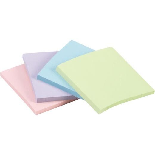 Post-It 2-7/8 In. X 2-7/8 In. Assorted Colors Self-Stick Note Pad (4-Pack)